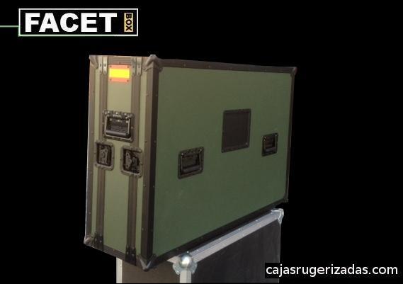 Caja de transporte operativa para pantalla de plasma