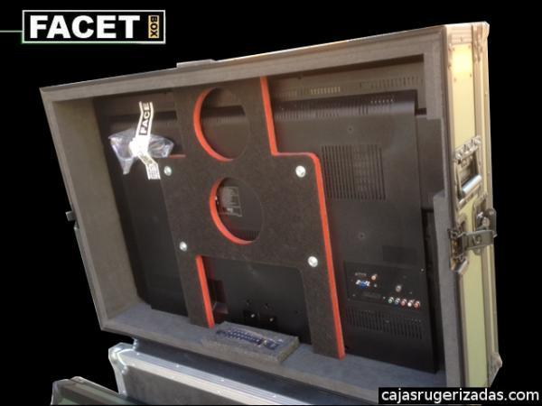 Interior caja de transporte operativa para pantalla de plasma