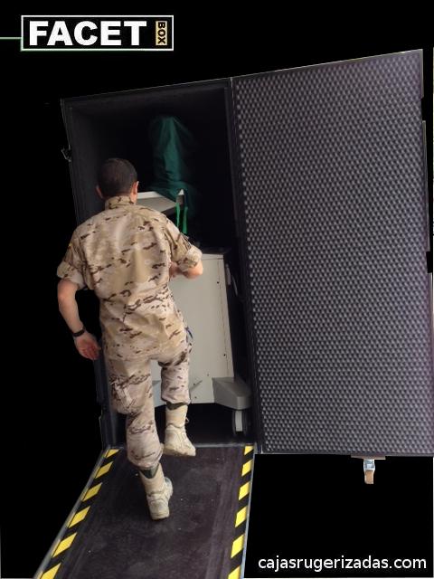 Caja rugerizada para monitores arco quirófano rayos X Philips